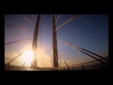 Øresund Bridge : Copenhagen Denmark to Malmö Sweden : music Sigur Rós