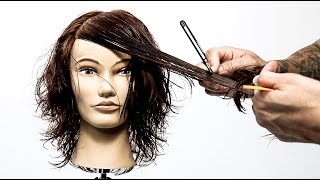 3 Different Bangs In 1 Layered Haircut Tutorial | BONUS: Versatile Nude Hair Color Technique