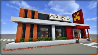 【マインクラフト】ハンバーガー屋を建築してみる【マクドナルドの作り方】