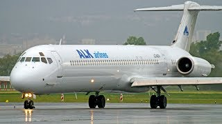 [ENGINE SOUND] ALK Air Lugo MD82 Startup and takeoff @ Clermont Airport
