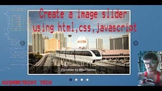 How to Create Image Slider Using HTML,CSS Easy Tutorial By Techy Tech