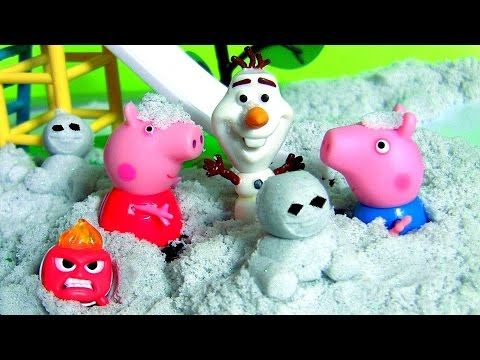 Frozen Fever Kinetic Sand Shimmering Snow Olaf Snowgies With Pig George, Peppa Pig Anna Elsa MLP