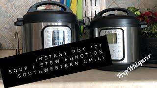 Instant Pot 101- Southwestern Chili - Zero WW SmartPoints