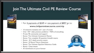 Civil Engineering Academy - How to Pass the Civil Engineering PE Exam - Comes Down Soon!