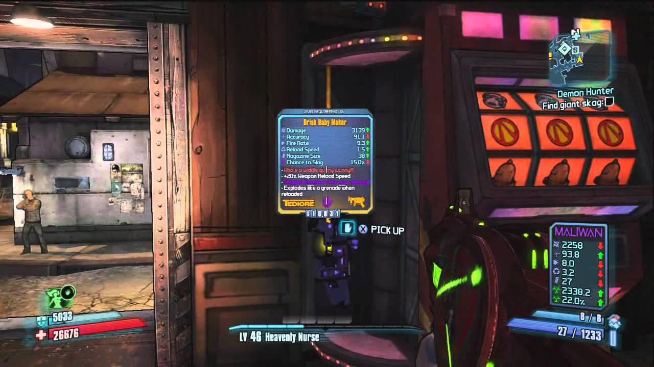 Borderlands slot hack