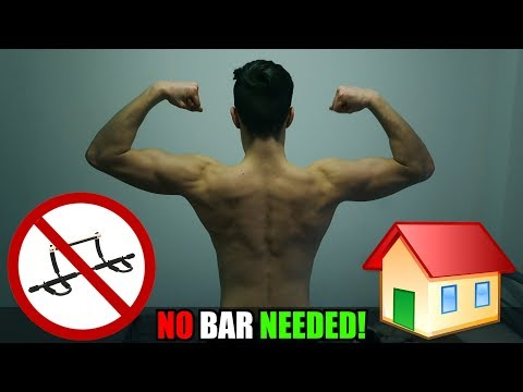 Pull Ups WITHOUT A Bar AT HOME 🏡  (10 VARIATIONS!)