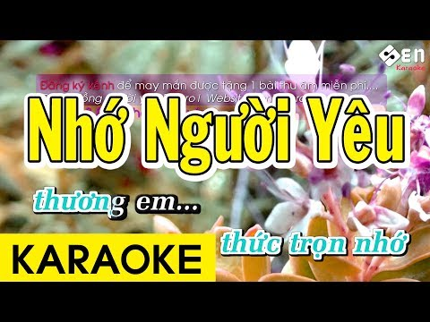 Nhớ Người Yêu - Karaoke Beat Chuẩn
