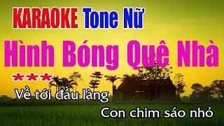 Hình Bóng Quê Nhà Karaoke | Tone Nữ - Nhạc Sống Thanh Ngân