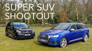 Mercedes-AMG GLE 63 vs Audi SQ7 Super SUVs w/ Tiff Needell