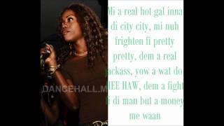 Sheba - No Idiot gal (LYRICS ON SCREEN) September 2011 {Lost angel riddim}.