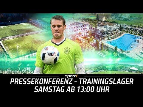 LIVE 🔴 | DFB-Pressekonferenz aus dem Trainingslager | 26.05. | WM 2018 | SPORT1