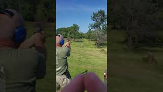 300 Yards with a 1911 on a beer keg.