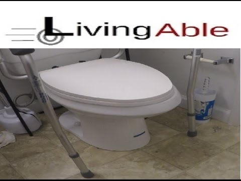 Toilet safety rails ***installed in 5 minutes*** - YouTube