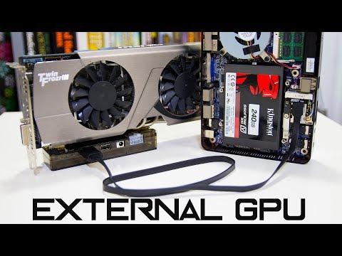 External GPU on Laptop or Net Top setup | aka EGPU - YouTube