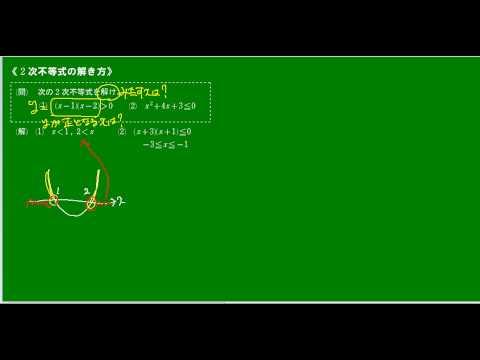 高校数学Ⅰ 2次不等式の解き方 ...
