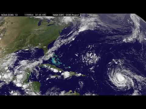 Satellite Animation Sees Major Hurricane Irma Approaching Leeward Islands