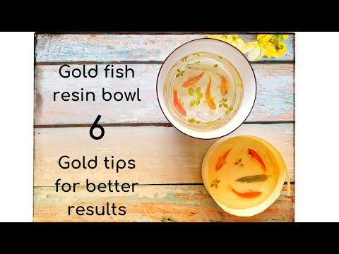 Gold fish UV resin bowl - 6 GOLD tips for best results
