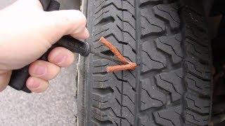 Ремонт шины от прокола гвоздем