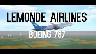 LeMonde Airlines Flug!! Boeing 787!! | ROBLOX