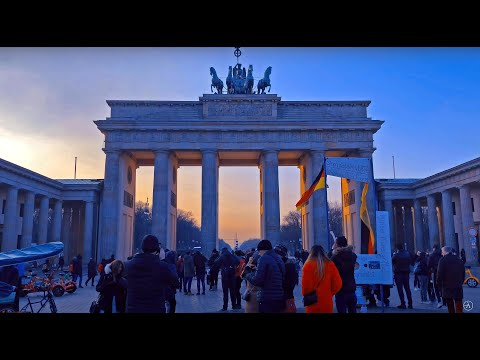 BERLIN WALKTHROUGH QUICK TOUR - 4K Travel And Natural Ambiance HD