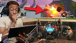 Using the MECH with AIM ASSIST in Arena is Broken! (fortnite mobile)
