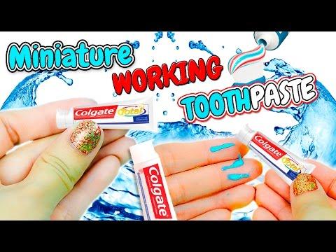 DIY Realistic Miniature Toothpaste Tube ~ Working Dollhouse Tutorial