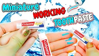DIY Realistic Miniature Toothpaste Tube ~ Working Dollhouse Tutorial
