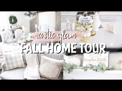 FALL HOME TOUR 2019 | NEUTRAL FALL DECOR | RUSTIC GLAM