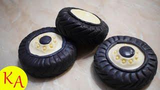 как сделать колеса из мастики