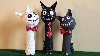 DIY: Gato Engraçado (Papel mache) - Funny Cat (mache paper)