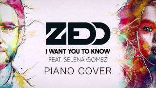 Zedd - I Want You To Know ft. SELENA GOMEZ (cover)