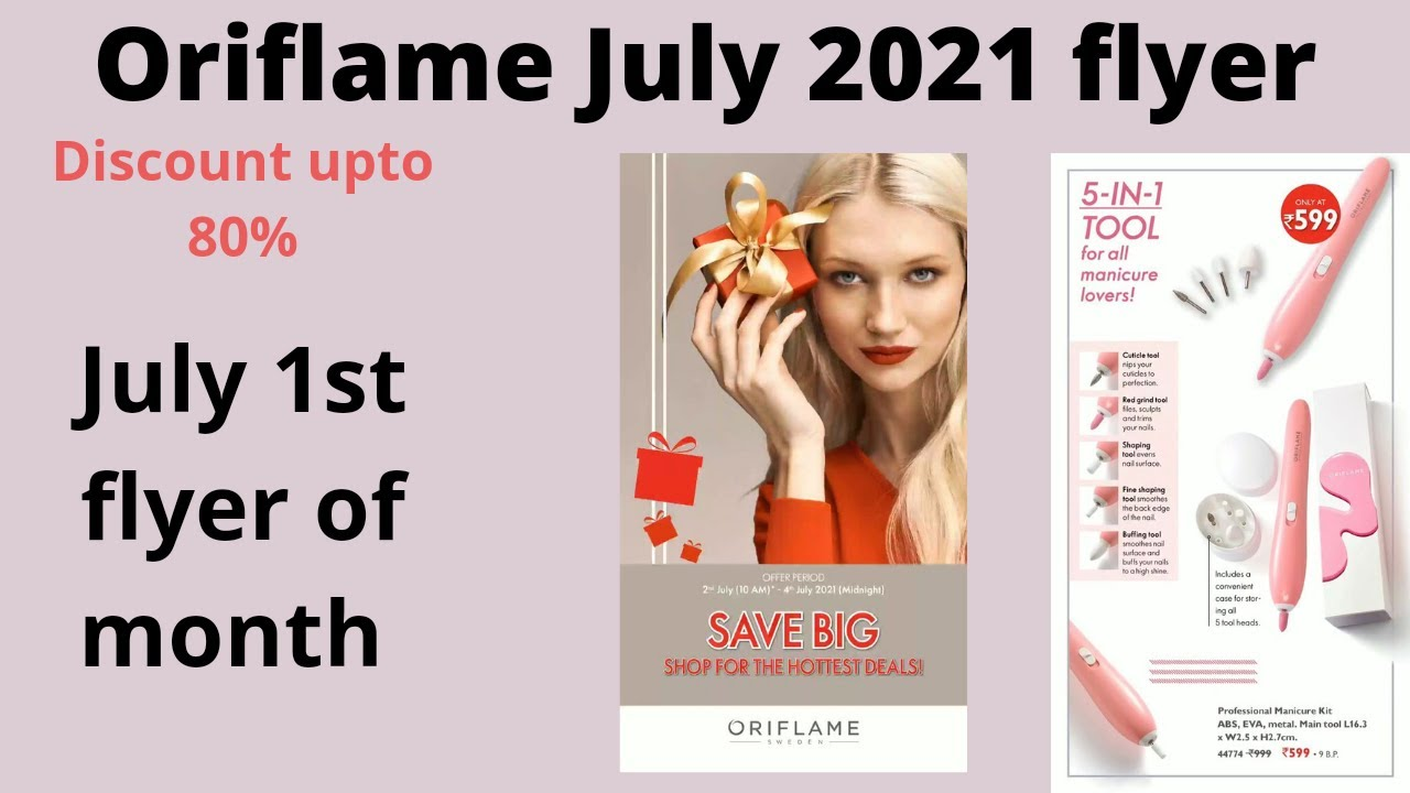Oriflame July 2021 sales flyer