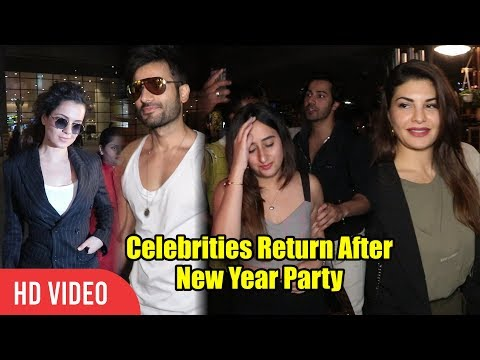 Celebrities At Mumbai Airport | Varun Dhawan With Girfriend, Kangana Ranaut, Jacqueline