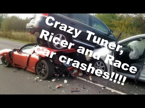 Crazy Tuner, Ricer, and Race car Crash Compilation