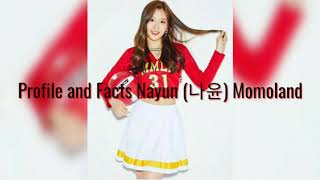 Profile and Facts Nayun (나윤) Momoland