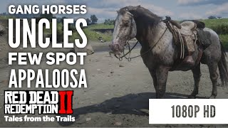 RDR2: Gang Horses - Uncles Few Spot Buckskin Appaloosa - 1080p HD - Red Dead Redemption 2