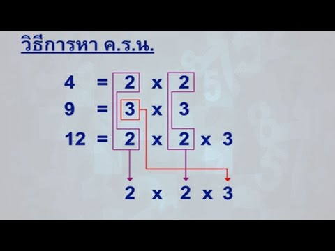 การหา ค.ร.น. (2) คณิตศาสตร์ ป.6