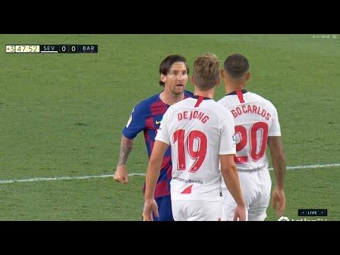 Lionel Messi Fight - Sevilla-Barcelona 0-0