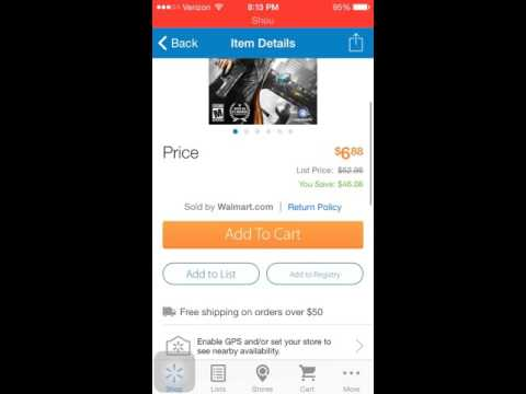 I300 Usability Test Walmart Mobile App