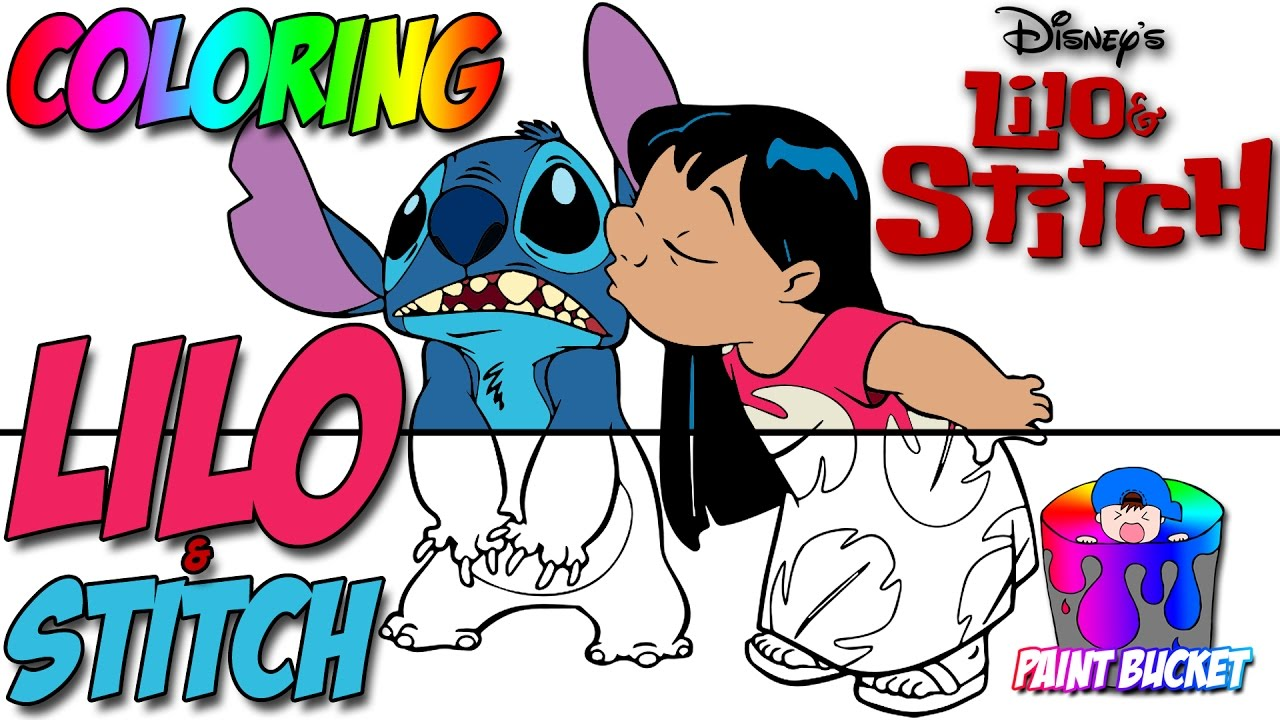 Coloring pages lilo and stitch - Lilo And Stitch Coloring Pages Disney Coloring Book For Kids To Learn Colours