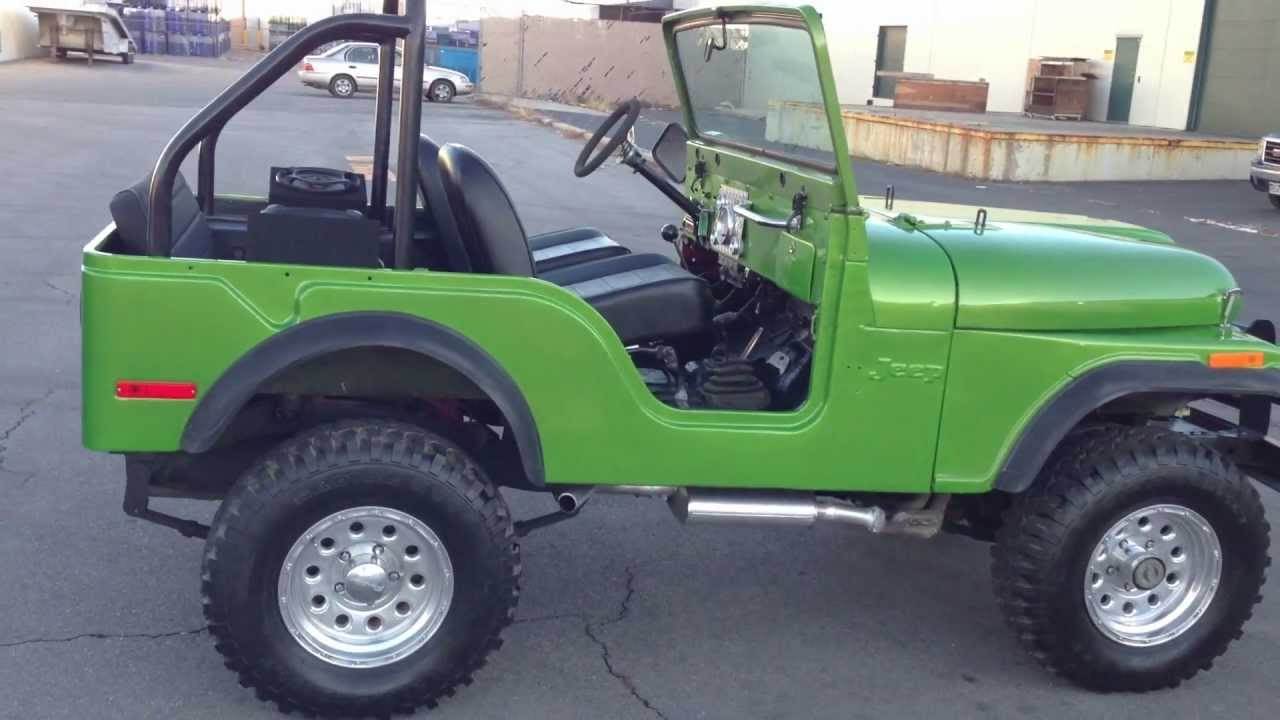 1973 jeep cj 5 4x4 304 v8 3 speed manual custom paint [ 1280 x 720 Pixel ]