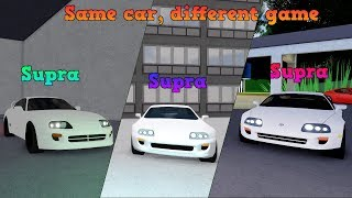 Driving a Toyota Supra in 3 Different ROBLOX Racing games