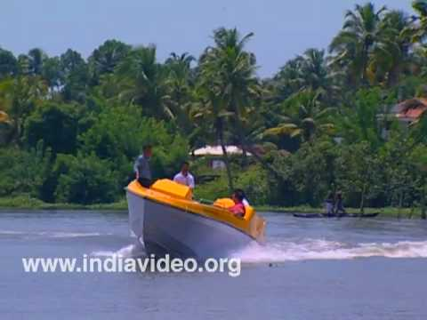 Speed boat cruise at Alappuzha