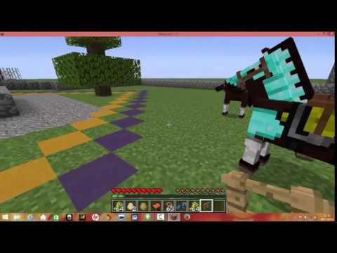 Comment monter sur un cheval sur minecraft youtube - Cheval minecraft ...