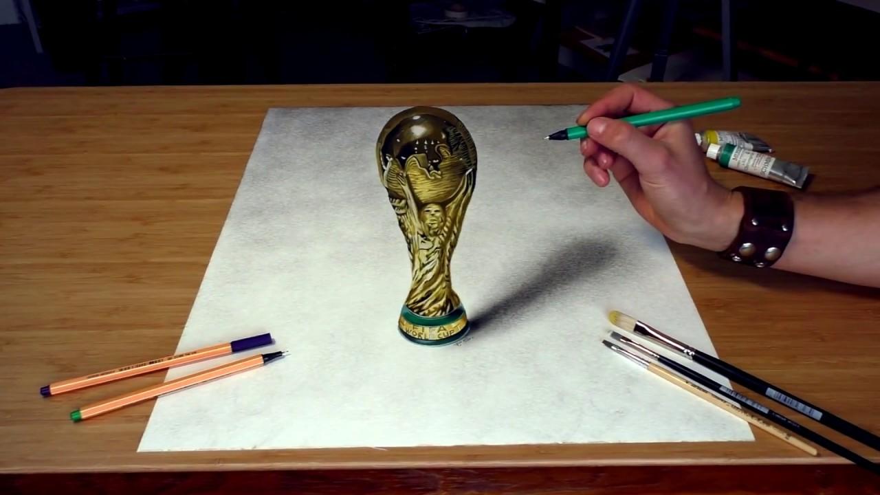 Wm Pokal Gemalt In 3d Fussball 2018