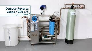 Osmose Reversa 1200 L/h com Sistema de Carvão Ativado e Circuito de Limpeza