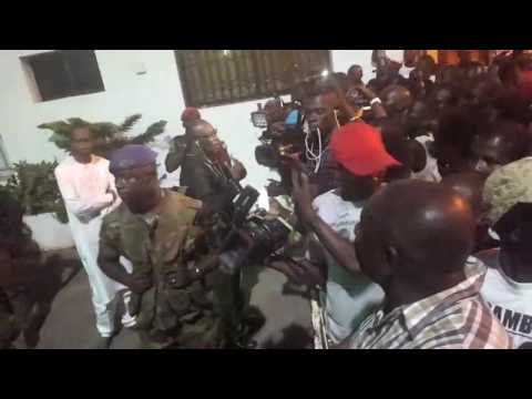 Ecowas troops in Gambia Presidential state house  Banjul, Gambian capital