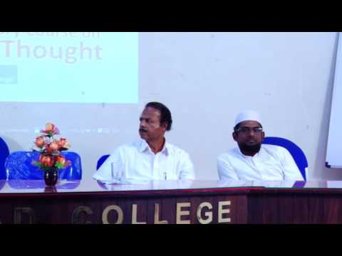 Inagural Session of An Introductory Course on Muslim Thought @ MES Mampad College