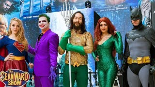 Going to the AQUAMAN premiere with #TEAMSUPERFUNNY - Batman, Joker, TheSeanWardShow