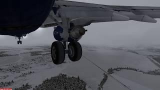 Boing 737-800 посадка в Екатеринбурге в СМУ (USSS) Prepar3d